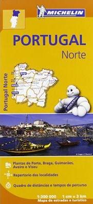 Michelin Mapa Regional Portugal Norte