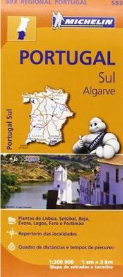 Michelin Mapa Regional Portugal Sul/Algarve