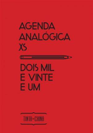 Agenda Analógica XS Dois Mil e Vinte e Um (semanal) – Vermelha